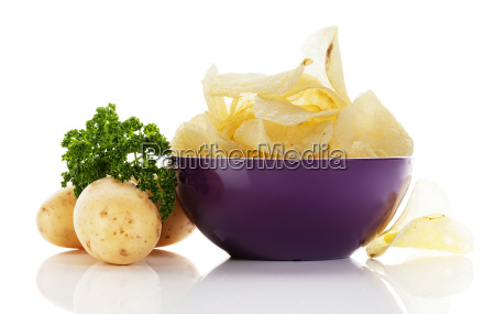 chips in a bowl with potatoes