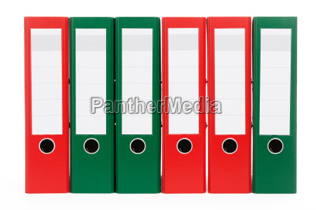 red and green ring binder