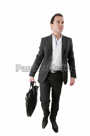 portrait of a business man carrying