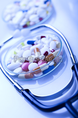 drugs and stethoscope