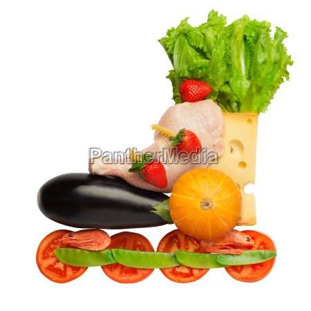 healthy food in a healthy body