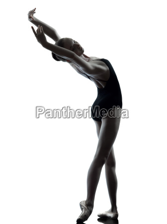 young woman ballerina ballet dancer stretching
