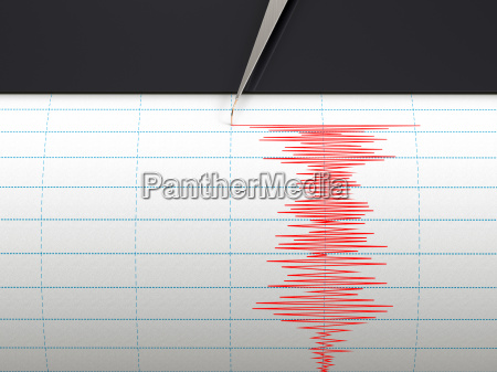 seismograph instrument recording ground motion during