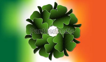 irish clover leaf wreath
