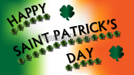 happy st patricks day clovers sign