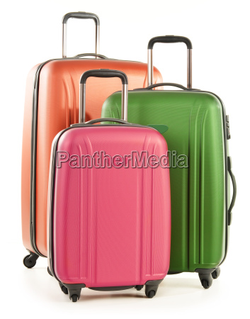 luggage consisting of large suitcases isolated