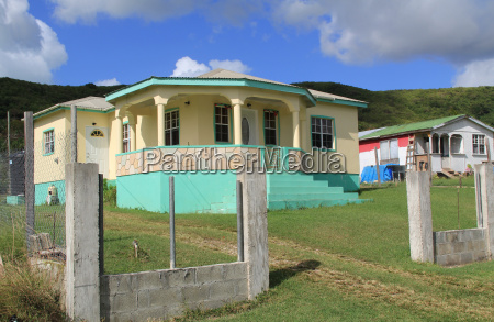 typical nice home in antigua barbuda