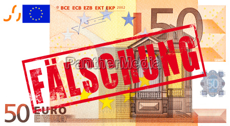 euro currency with stamp