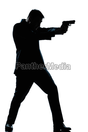 silhouette man full length shooting with