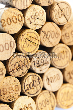 still life of corks