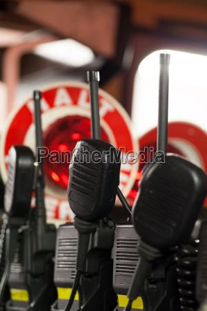 firemen radios in police cars