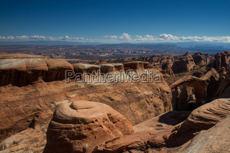 panorama of the arches national park