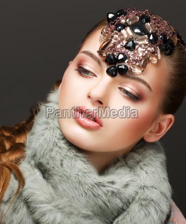 fantasy russian woman fashion model with