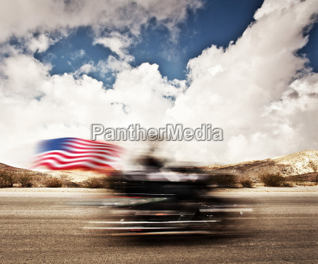 slow motion on motorbike