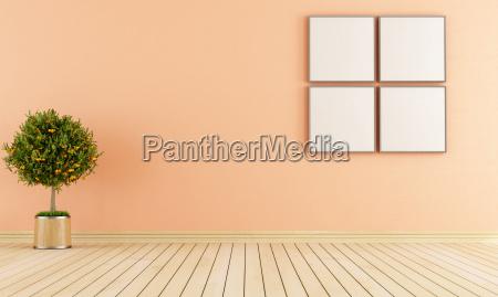 minimalist empty room