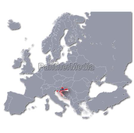 europakarte croatia
