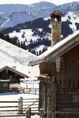 alpine hut in the foothills bavaria