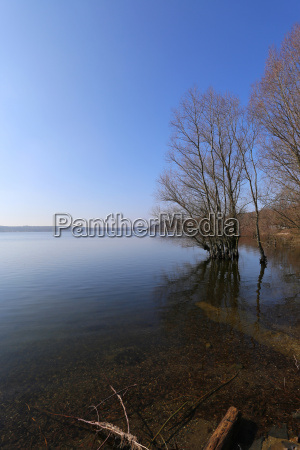 in early march the lake