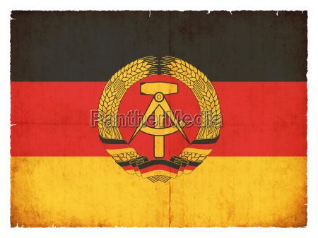 grunge flag german democratic republic gdr