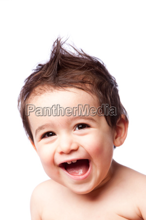 happy cute laughing toddler boy