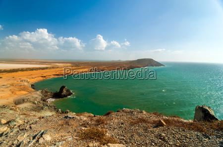 ocean landscape in la guajira