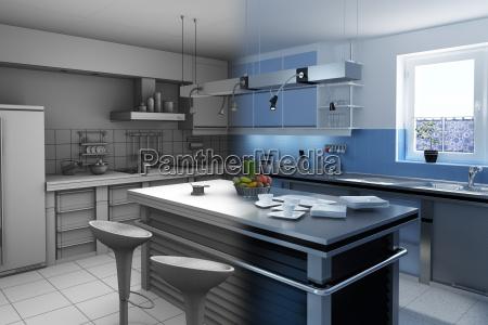 moderen kitchen final wireframe