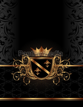 golden ornate frame with crown