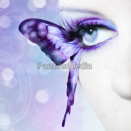 eye of a young woman with