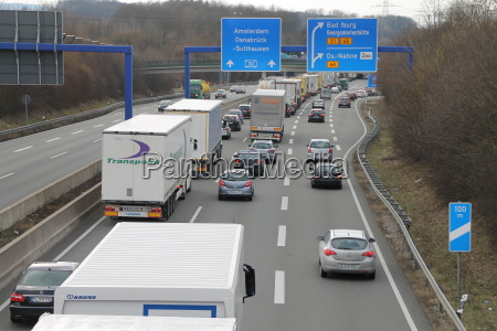 a traffic jam on the a30