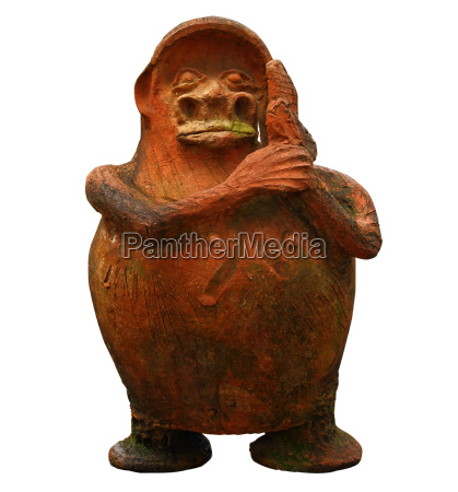 cute fat little statue isolated