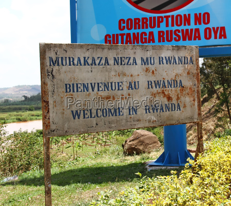 welcome to rwanda sign