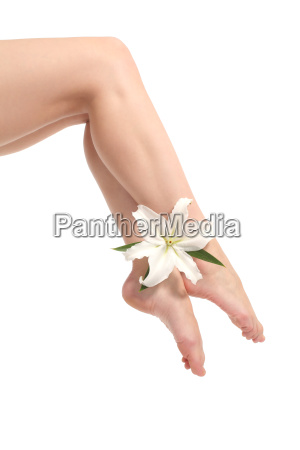 beautiful woman legs with ankles crossed
