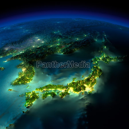 night earth a piece of asia