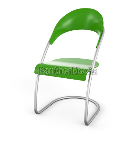 visitors chair green in 3d