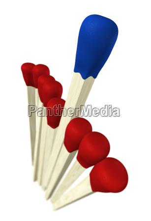 matchstick concept blue wins 2