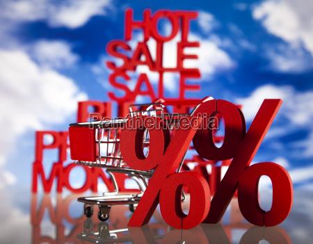 shopping trolley percent