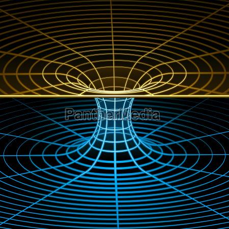 wireframe symbol wormhole