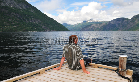 rest on the fjord