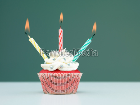 colorful muffin candles