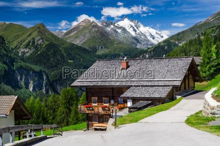 tirol alps landscape in austria with