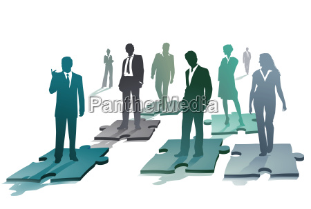 group of business people on a