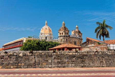 city wall and church of san