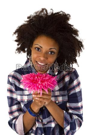 woman flower plant bloom blossom flourish