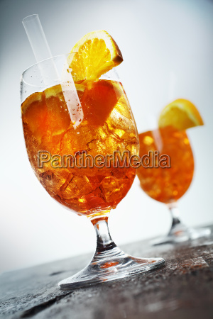 golden orange and rum cocktail of