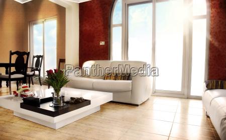 koncept udkast plan moderne rum interior