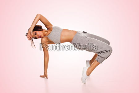 agile woman hip hop dancer