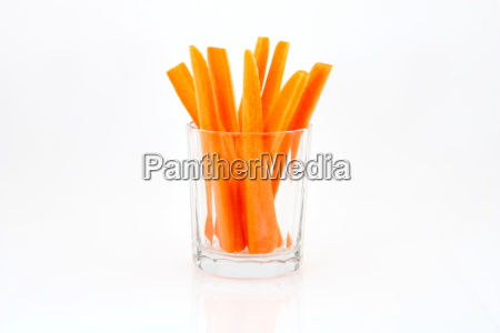 carrot sticks in glass