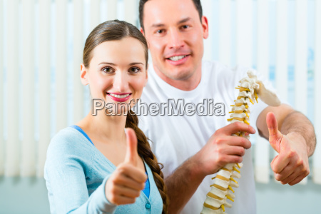 counseling patient at the physiotherapy