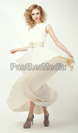 femininity fashion model in long light