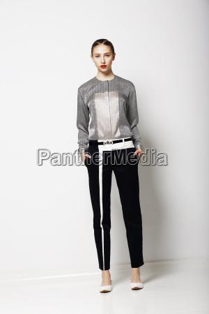 attitude glamor fashion model in modern